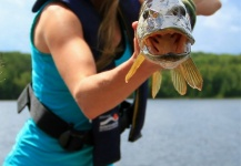 Rebekka  Redd 's Fly-fishing Picture of a Pike – Fly dreamers