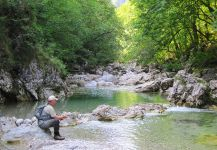 "With fly rod through the beautiful gorge ""Iški vintgar"""