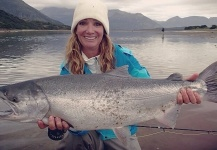 Meredith McCord 's Fly-fishing Pic of a Silver salmon – Fly dreamers