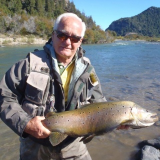 Federico Colombres and his brown trout - Arroyo Verde Lodge