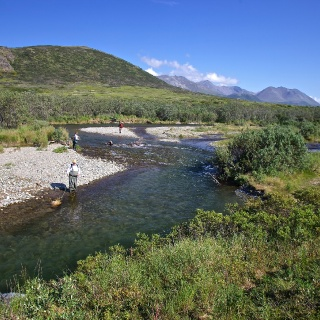 River X on the border of Katmai National Park.  This river experiences some of the best catch rates of Char, rainbow, and grayling in the world!