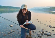 Stacey Rodrigues 's Fly-fishing Image of a Whitefish – Fly dreamers