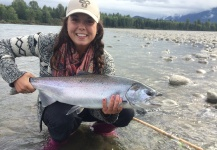 Stacey Rodrigues 's Fly-fishing Photo of a Silver salmon – Fly dreamers