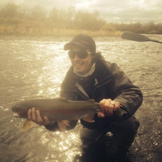 Fall rainbows on the Kanektok river