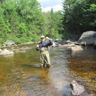 Fly fishing for wild Brooke trout