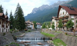 rivers in fassa and fiemme valley, around trento, trentino alto adige, Italy