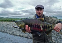 Sam Carlisle 's Fly-fishing Catch of a Chum salmon – Fly dreamers