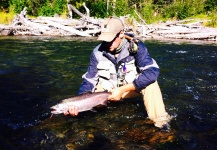 Luke Metherell 's Fly-fishing Catch of a Silver salmon – Fly dreamers