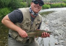 Joshua Shearer 's Fly-fishing Catch of a Rainbow trout – Fly dreamers