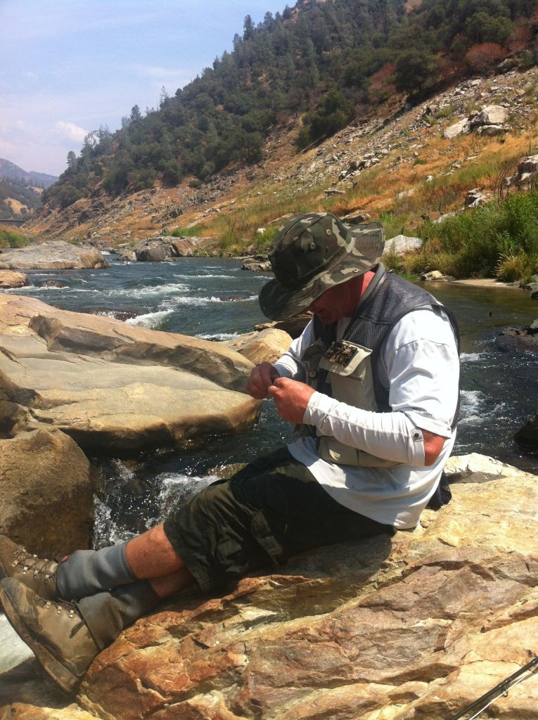 Fly fishing guide casting for Hatch fly fishing