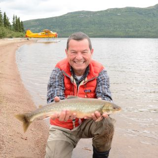 Jim (Owner of igloo Lake lodge) at fly-out location for Arctic Char on August 27, 2016