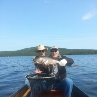 Exciting times at Igloo Lake - awesome brook trout fishing