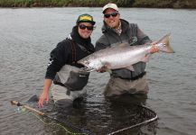 Fly-fishing Picture of Tyee Salmon shared by Daren Niemi | Fly dreamers