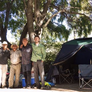 Nice group camping on the Caleufu River!