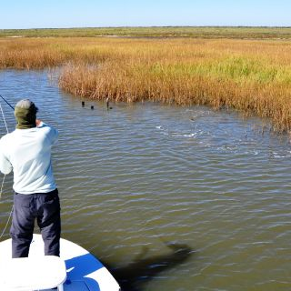 Michael Harris hooking up a red from a Texas marsh school in the fall.