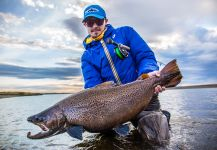 Fergus Kelley 's Fly-fishing Picture of a Sea-Trout | Fly dreamers