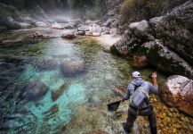 Fly-fishing Situation of Rainbow trout - Picture shared by Uros Kristan - URKO Fishing Adventures | Fly dreamers