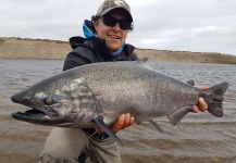 Hector  Tagle 's Fly-fishing Photo of a Blackmouth Salmon | Fly dreamers