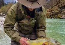 Good Fly-fishing Situation of Marble Trout - Photo shared by Uros Kristan - URKO Fishing Adventures | Fly dreamers