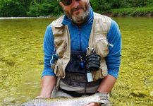 Fly-fishing Situation of Rainbow trout shared by Uros Kristan - URKO Fishing Adventures