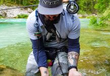 Fly-fishing Situation of Marble Trout - Image shared by Uros Kristan - URKO Fishing Adventures | Fly dreamers