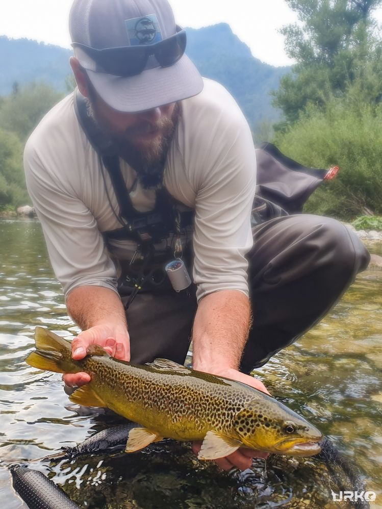This hybrid marble trout was such a hard shell to crack