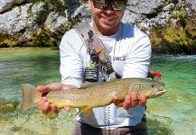 Nice Fly-fishing Situation of Marble Trout - Picture shared by Uros Kristan - URKO Fishing Adventures | Fly dreamers