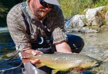 Fly-fishing Situation of German brown shared by Uros Kristan - URKO Fishing Adventures