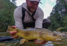 Nice Fly-fishing Situation of Marble Trout shared by Uros Kristan - URKO Fishing Adventures