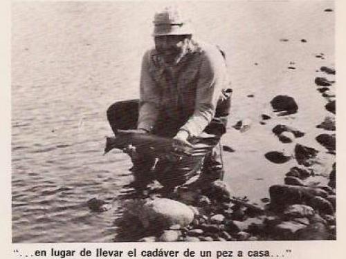 Revista Safari - Año VIII - Nº 54 - 1978. Colección de Noel Pollak.. Mel Krieger es uno de los mejores casters de los EE.UU. Hace unos años que viene al país, precisamente a Junín de los Andes. Este año, horas antes de regresar...