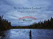 "For some, the Atlantic salmon is an object of obsession whose draw is so complete as to haunt every waking thought and fantasy. These most avid and passionate anglers are called ""salmon junkies."""