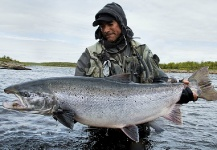 Fly-fishing Picture of Atlantic salmon shared by Fin Chasers Magazine – Fly dreamers