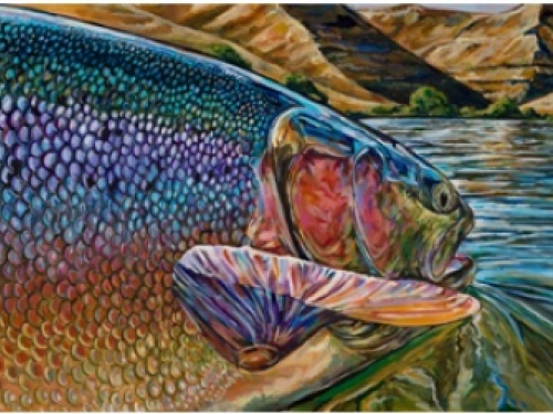 Fd: How did Art and Fly Fishing get together in your life? How were your beginnings in these two different fields?  Both fishing and art were things I did not really choose, they are just a part of who I am.  In terms of fishing, my father was an obsessed...