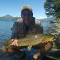 Trucha marron pescada por Juani Ochoa con equipo #4 en zona alumine