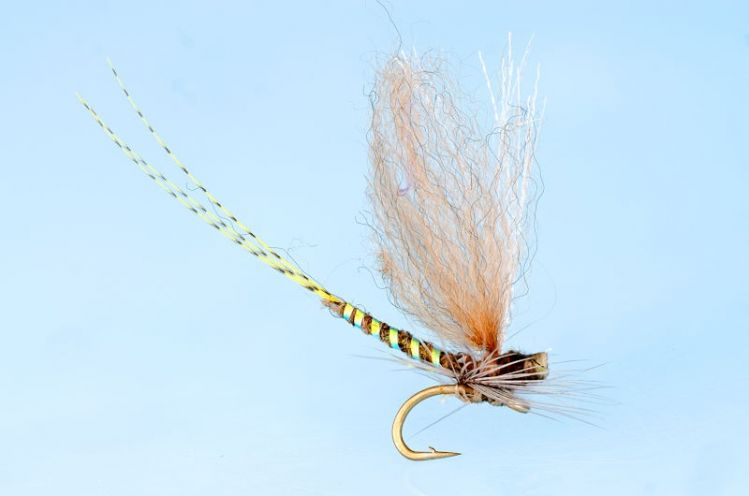 Parachuter, tied on a needle, before mounting on a #20 scud hook