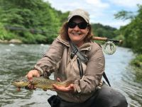 Rachel D. with a Pa Stream bred Brown Trout