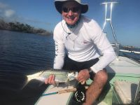 David from Toronto is new to fly fishing but hooked quite a few and landed his first Tarpon on fly