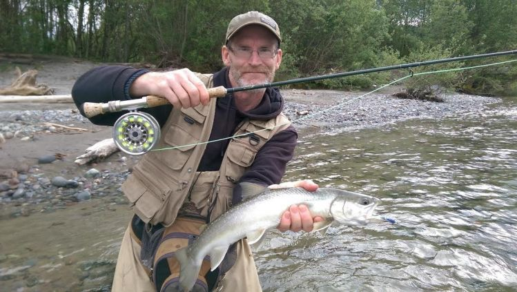 Brian Mack with Squamish Bull trout