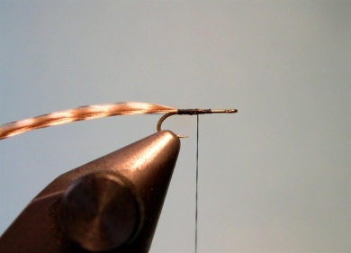 Fly tying -  Griffith's Gnat  - Step 1