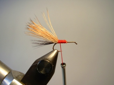 Fly tying - Red Humpy - Step 2