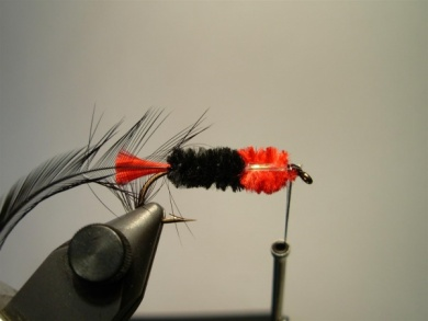 Fly tying - Woolly Worm - Step 9