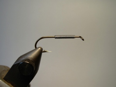 Fly tying - Woolly Worm - Step 1