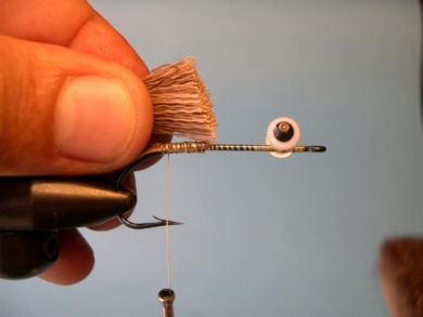 Fly tying - Deer Hair Mouse - Step 3