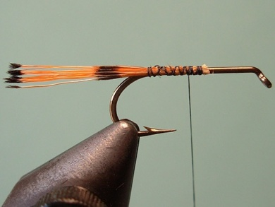 Fly tying - Royal Trude - Step 1