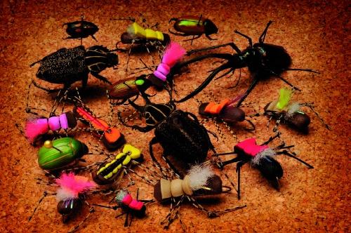 <p>La Fat Albert es una interesante variante de las Chernobil Ant, con un cuerpo más ancho y voluminoso. Llega al agua con mucha presencia y capta, sin dudas, la atención de cualquier trucha que nade en las inmediaciones. Variando atado, la hemos empleado con singular éxito para pescar pirapitaes, dorados y pacúes. Hay infinidad de variantes de esta mosca, algunas con lana fluorescente en el lomo para que sean más visibles y otras con dubbing en el bajo cuerpo.</p>Las nuevas patas de siliconas barradas – como las Centipedes – que usamos en esta Fat Albert, le agregan un atractivo más a tan efectiva mosca, que se destaca en las aguas rápidas, pockets y pozos profundos. En la pesca de lagos, lanzándola un poco afuera del veril es muy pescadora, sobre todo los días ventosos cuando el movimiento propio de la superficie basta para que la Fat Albert se convierta en un arma mortal. A pesar del tamaño de la mosca, los piques suelen ser suaves: recomiendo mantenerse todo el tiempo enfocados.<br />