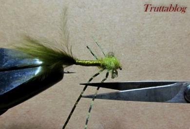 Fly tying - The Slinky Damsel - Step 11