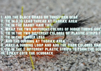 Fly tying - Black Tiger Tor - Step 1