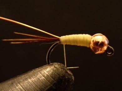 Fly tying - Sulphur on a Jig Hook - Step 4
