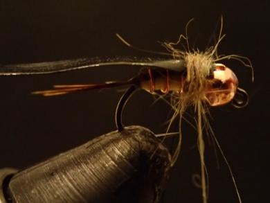 Fly tying - Sulphur on a Jig Hook - Step 11
