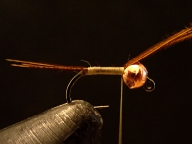 Fly tying - Sulphur on a Jig Hook - Step 2